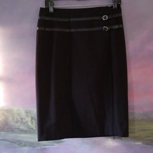 LIMITED Stretch Black Pencil Skirt